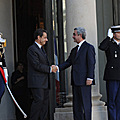 President Serzh Sargsyan and President Nicolas Sarkozy during the RA President's official visit to France-28.09.2011
