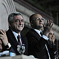 President Serzh Sargsyan at the football match between the national teams of Armenia and the Former Yugoslav Republic of Macedonia-07.10.2010