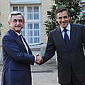 President Serzh Sargsyan meets with the Prime Minister of France Francois Fillon--28.09.2011