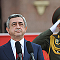 President Serzh Sargsyan at the parade dedicated to the RA Police Day
