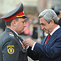 President Serzh Sargsyan is awarding a group of the Police servicemen on the occasion of the RA Police Day– 16.04.2011