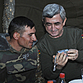 President Serzh Sargsyan on the defense positions of our country on the occasion of New Year and Christmas-31.10.2010