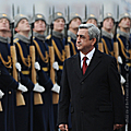 Official ceremony of welcoming President Serzh Sargsyan during his state visit to the Russian Federation-23.10.2011