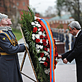 In the framework of his state visit to the Russian Federation, President Serzh Sargsyan visited the Memorial of the Unknown Soldier-24.10.2011