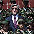 President Serzh Sargsyan visits the Little Mher educational complex-14.09.2011