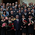 After the ceremony of awarding the RA medals and orders in the Presidential Palace dedicated to the 18th anniversary of Armenia's independence-21.09.2009