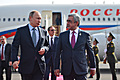 President of Armenia welcomes Russian President Vladimir Putin in Yerevan, who arrived to participate in the Collective Security Council session of CSTO