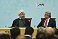 Serzh Sargsyan and Hassan Rouhani at the Armenia-Iran Business Forum, Yerevan