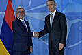 President Serzh Sargsyan's meeting with NATO Secretary General Jens Stoltenberg at NATO headquarters
