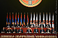 President Serzh Sargsyan, Chairman of the Republican Party of Armenia speaks at the 14th Extraordinary Convention of the Party