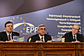 President of Armenia, Chairman of the RPA Serzh Sargsyan together with Wilfried Martens and President of the European Commission Jose Manuel Barroso at the Yerevan Summit of the leaders of the EPP Eastern Partnership states