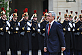 Welcoming ceremony for President Serzh Sargsyan who arrived to France with the official visit