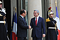 President Serzh Sargsyan and President of France Francois Hollande during President Sargsyan's official visit to France