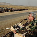 President of Armenia, Commander-in-Chief Serzh Sargsyan during his statement for the servicemen of the Tigranaker military training facility in the Republic of Nagorno Karabakh