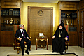 In the framework of his official visit to the Republic of Lebanon, President Serzh Sargsyan visits Antelias with His Holiness Catholicos of the Great House of Cilicia Aram I