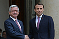 President Serzh Sargsyan meeting with President of France Emmanuel Macron in Paris