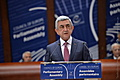 President Serzh Sargsyan, Strasbourg, the plenary session of the PACE