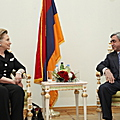 President Serzh Sargsyan received the US Secretary of State Hillary Clinton-04.07.2010