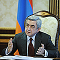 President Serzh Sargsyan conducts a meeting on judicial and legal reforms-20.04.2011