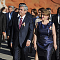 President Serzh Sargsyan and Mrs. Rita Sargsyan at the reception in the Sardarapat Memorial Complex dedicated to the 20th anniversary of Armenia's independence-14.09.2011