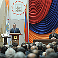 President Serzh Sargsyan at the ceremony of inauguration of the Mayor of Yerevan-18.11.2011