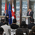 Joint press conference of President Serzh Sargsyan and Mikeil Sahakashvili in the framework of the official visit to Georgia-29.11.2011