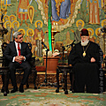 President Serzh Sargsyan meets with the Catholicos Patriarch of all Georgia Ilia II in the framework of his official visit to Georgia-29.11.2011