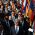 The President of the Republic of Armenia, Chairman of the Republican Party during the pre-election campaign for the May 6, 2012 parliamentary elections