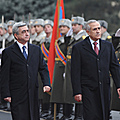 President Serzh Sargsyan and the President of the Republic of Lebanon Michele Suleiman who is in Armenia on an official visit-09.12.2011