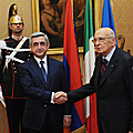 President Serzh Sargsyan meets with the President of Italy Giorgio Napolitano in the framework of his working visit to Italy-12.12.2011