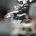 President Serzh Sargsyan and the President of Iran Mahmoud Ahmadinejad who arrived to Armenia on an official visit-23.12.2011
