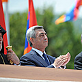 President Serzh Sargsyan attends the festive parade dedicated to May holidays