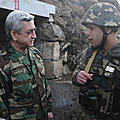 President Serzh Sargsyan visits the defense positions of our country on the occasion of New Year and Christmas holidays-31.12.2011