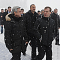 Presidents of Armenia, Russia and Azerbaijan before their meeting in Sochi-25.01.2010