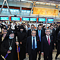 President Serzh Sargsyan in the Zvartnots airport at the inauguration of the new passenger terminal-16.09.2011