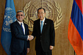 President Serzh Sargsyan meets UN Secretary-General Ban Ki-moon within the framework of the 69th session of the UN General Assembly