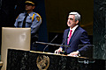 President Serzh Sargsyan delivers a speech at the 69th session of the UN General Assembly