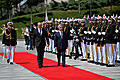 President Serzh Sargsyan makes an official visit to Georgia (official welcoming ceremony)