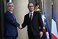 President Serzh Sargsyan meets French President Francois Hollande during the RA President's working visit to France