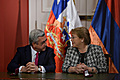 President Serzh Sargsyan meets Chilean President Michelle Bachelet during the RA President's official visit to Chile