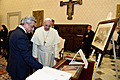 President Serzh Sargsyan meets His Holiness Pope Francis during the RA President's official visit to the Holy See