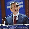 President Serzh Sargsyan speaks at the Plenary meeting of PACE in Strasburg-22.06.2011