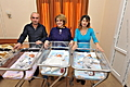 The First Lady of the Republic of Armenia, Honorary Chairperson of the Board of Trustees of the Aragil Fund Rita Sargsyan is visiting babies born through the assistance of the Fund and their mothers
