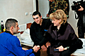 First Lady of Armenia visited individuals wounded as a result of the enemy shelling in Artsakh