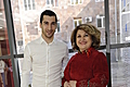 Rita Sargsyan together with the football player Henrikh Mkhitarian visited the Hematological Center