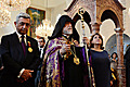 President Serzh Sargsyan and Mrs. Rita Sargsyan accompanied by His Holiness Catholicos of the Great House of Cilicia Aram I visited the Saint Gregory Enlightener Cathedral