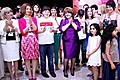The First Lady of Armenia Rita Sargsyan at the presentation of the video on the Donate Life Foundation's Ode