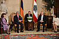 President Serzh Sargsyan and Mrs. Rita Sargsyan together with the President of Lebanon Michel Suleiman and Mrs. Vafaa Suleiman