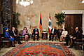 President Serzh Sargsyan and Mrs. Rita Sargsyan together with the President of Lebanon Michel Suleiman and Mrs. Vafaa Suleima