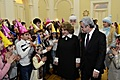 On the occasion of New Year and Holly Christmas, President Serzh Sargsyan and Mrs. Rita Sargsyan hosted numerous children from border villages